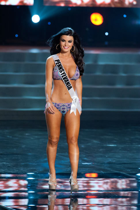 Miss Pennsylvania poses in a bikini during the Miss USA Presentation Show on May 30 from the Planet Hollywood Resort in Las Vegas, Nevada. The 2012 MISS USA Pageant will air live on NBC June 3 at 9:00 p.m. ET from the Theatre for Performing Arts. <span class=meta>(Miss USA &#47; Darren Decker)</span>