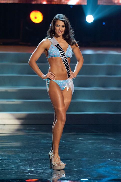 Miss South Carolina poses in a bikini during the...