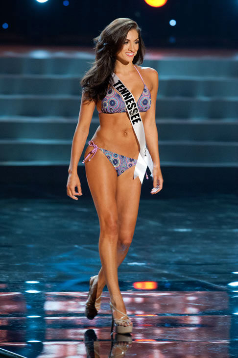 Miss Tennessee poses in a bikini during the Miss...