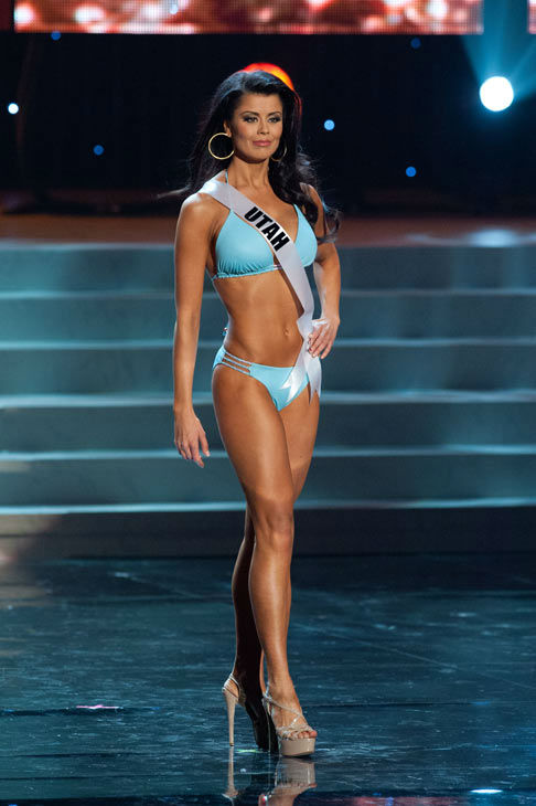 "<div class=""meta ""><span class=""caption-text "">Miss Utah poses in a bikini during the Miss USA Presentation Show on May 30 from the Planet Hollywood Resort in Las Vegas, Nevada. The 2012 MISS USA Pageant will air live on NBC June 3 at 9:00 p.m. ET from the Theatre for Performing Arts. (Miss USA / Darren Decker)</span></div>"