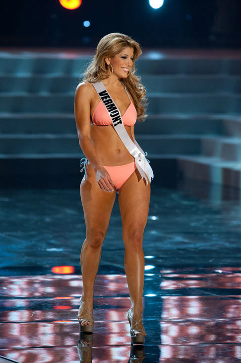 Miss Vermont poses in a bikini during the Miss...