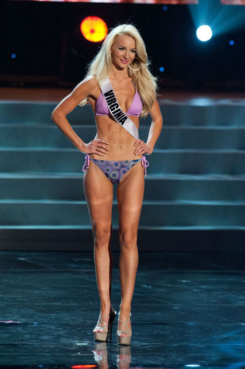 Miss Virginia poses in a bikini during the Miss...