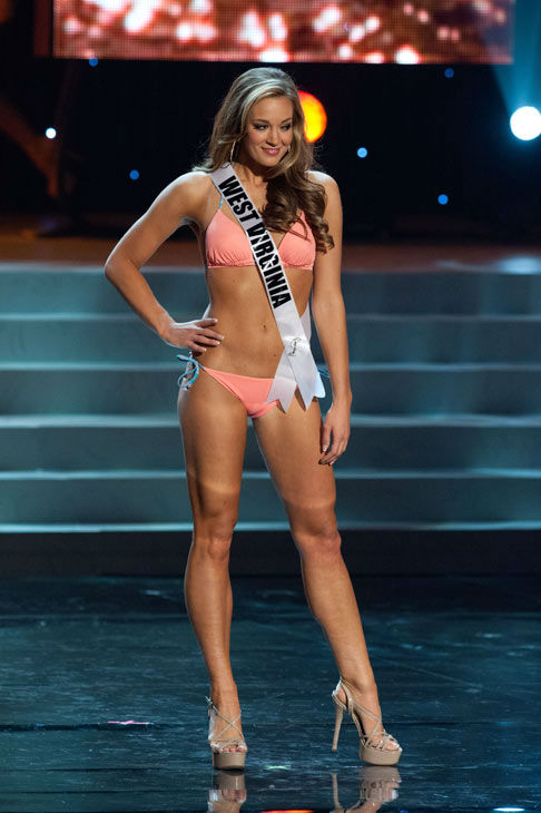 Miss West Virginia poses in a bikini during the...
