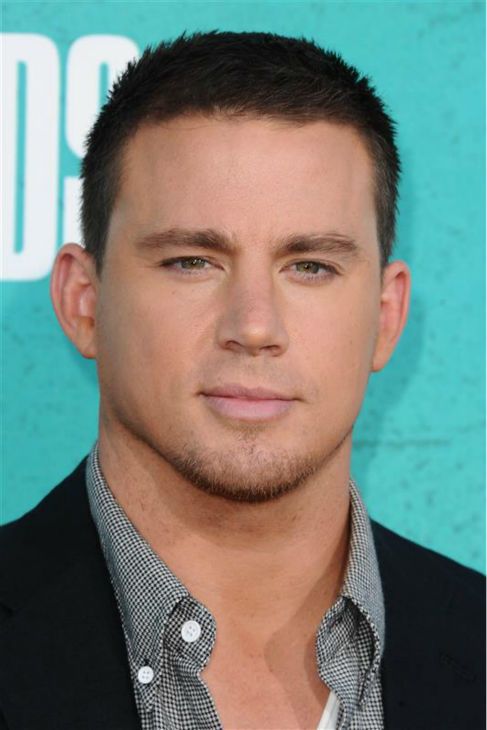 "<div class=""meta image-caption""><div class=""origin-logo origin-image ""><span></span></div><span class=""caption-text"">The 'Teal-Brings-Out-The-Green-In-My-Eyes' stare: Channing Tatum appears at the 2012 MTV Movie Awards in Universal City, California on June 3, 2012. (Kyle Rover / Startraksphoto.com)</span></div>"