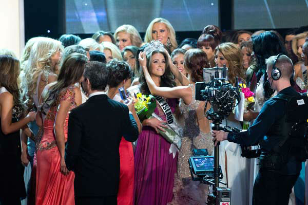 Miss Rhode Island USA 2012, Olivia Culpo, is crowned the winner of the 2012 Miss USA Competition in Las Vegas, Nevada on Sunday, June 3, 2012.