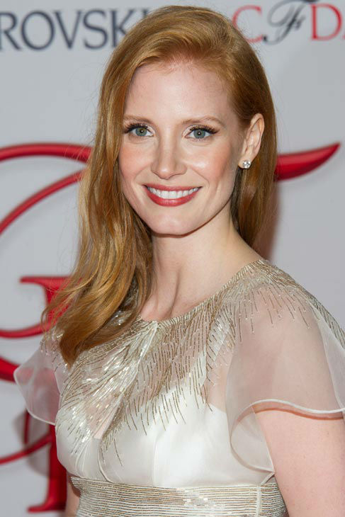 Jessica Chastain arrives at the CFDA Fashion Awards on Monday, June 4, 2012 in New York.  <span class=meta>(Photo&#47;Charles Sykes)</span>