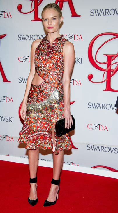 "<div class=""meta ""><span class=""caption-text "">Kate Bosworth arrives at the CFDA Fashion Awards on Monday, June 4, 2012 in New York.  (Photo/Charles Sykes)</span></div>"