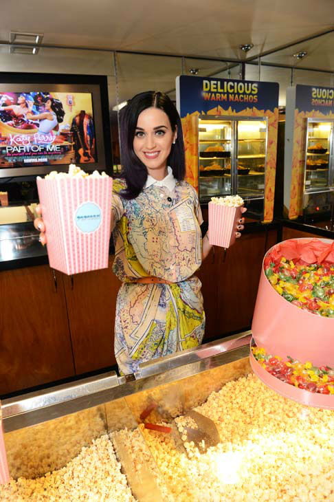 Pop superstar Katy Perry makes a surprise appearance at a special sneak preview of her new 3D feature film 'Katy Perry: Part Of Me' at the Apollo West End on June 7, 2012 in London, England.