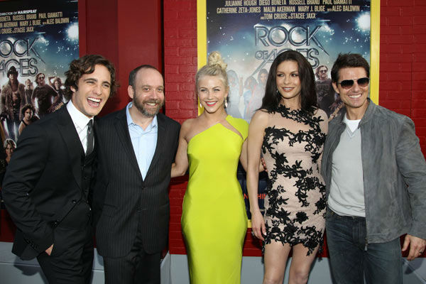 From left, Diego Boneta, Paul Giamatti, Julianne...