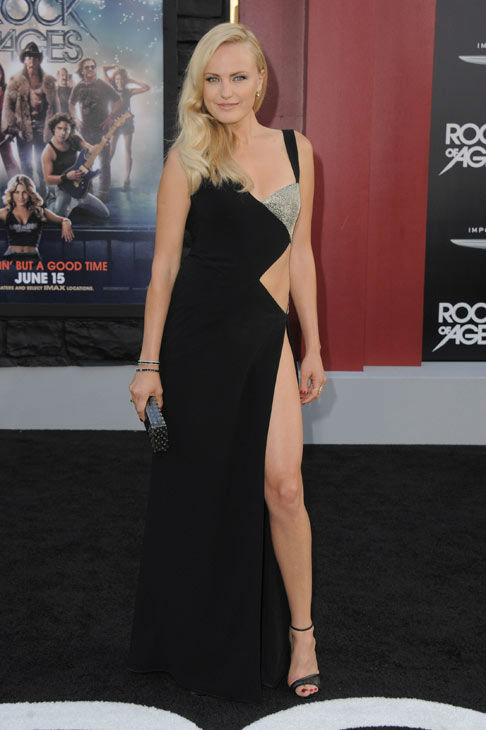 Malin Akerman arrives at the 'Rock of Ages'...