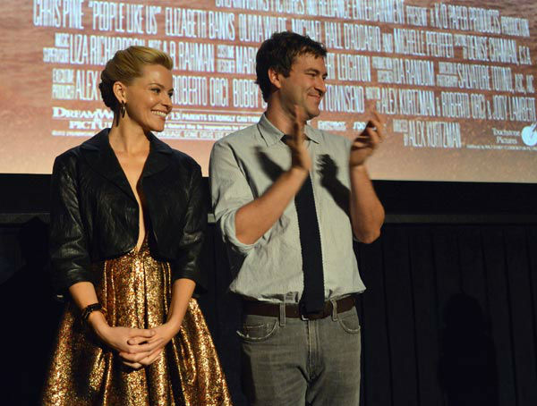 Actors Mark Duplass and Elizabeth Banks attend...