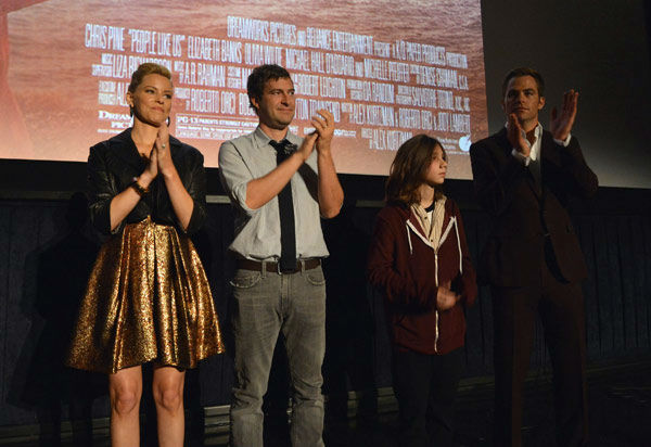 Actors Elizabeth Banks,  Mark Duplass, Michael...