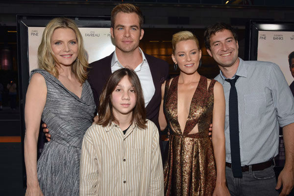 Actors Michelle Pfeiffer, Michael Hall D'Addario, Chris Pine, Elizabeth Banks and Mark Duplass attend the 2012 Los Angeles Film Festival Premiere of 'People Like Us' at Regal Cinemas L.A. LIVE Stadium 14 on June 15, 2012 in Los Angeles, California.