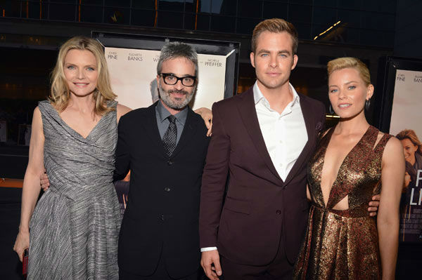 Actor Michelle Pfeiffer, director Alex Kurtzman, actors Chris Pine and Elizabeth Banks attend the 2012 Los Angeles Film Festival Premiere of 'People Like Us' at Regal Cinemas L.A. LIVE Stadium 14 on June 15, 2012 in Los Angeles, California.
