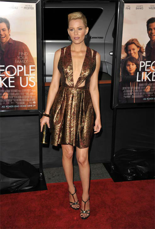 Elizabeth Banks attends the 2012 Los Angeles Film Festival Premiere of 'People Like Us' at Regal Cinemas L.A. LIVE Stadium 14 on June 15, 2012 in Los Angeles, California.