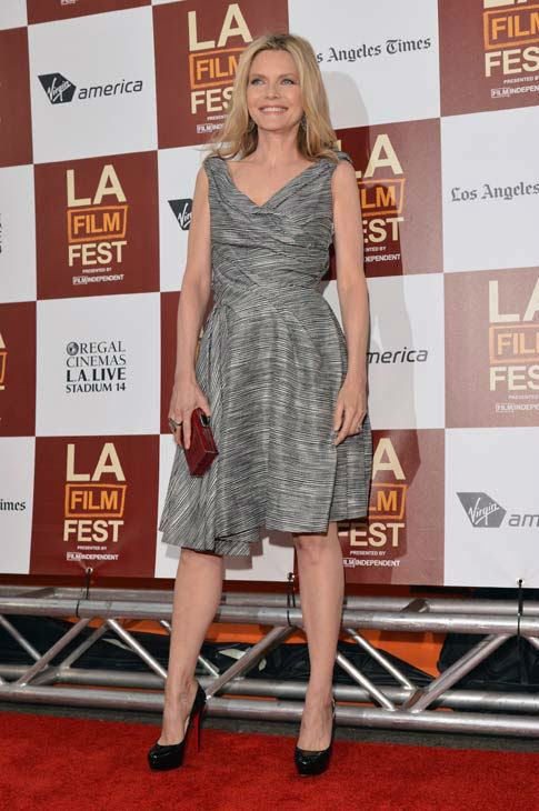 Actress Michelle Pfeiffer attends the 2012 Los Angeles Film Festival Premiere of 'People Like Us' at Regal Cinemas L.A. LIVE Stadium 14 on June 15, 2012 in Los Angeles, California.