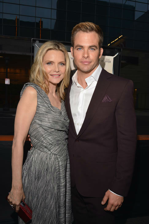 Actors Michelle Pfeiffer and Chris Pine attend...