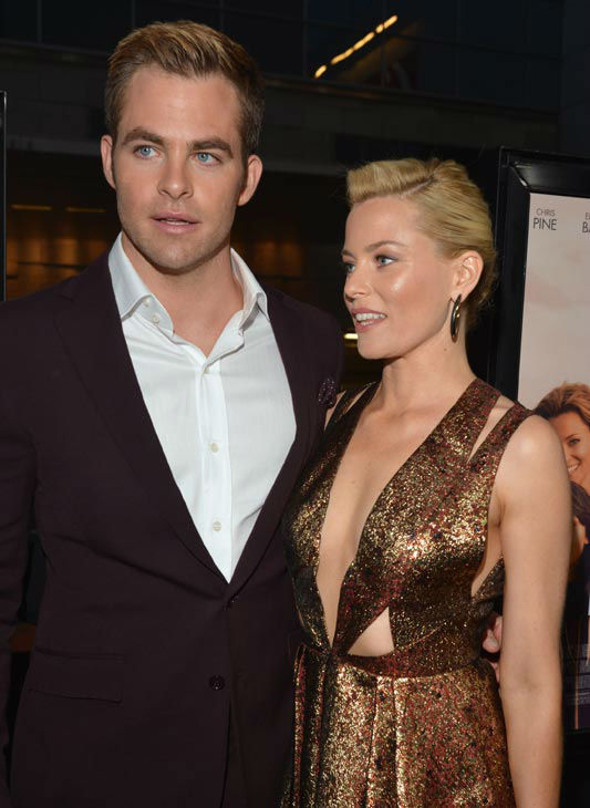 Actors Chris Pine and Elizabeth Banks attend the...