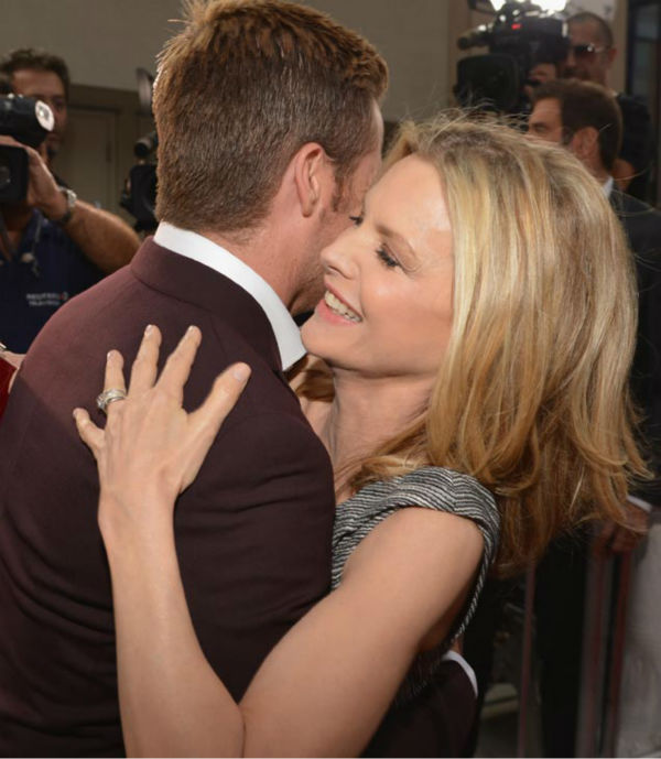 Actors Chris Pine and Michelle Pfeiffer attend the 2012 Los Angeles Film Festival Premiere of 'People Like Us' at Regal Cinemas L.A. LIVE Stadium 14 on June 15, 2012 in Los Angeles, California.