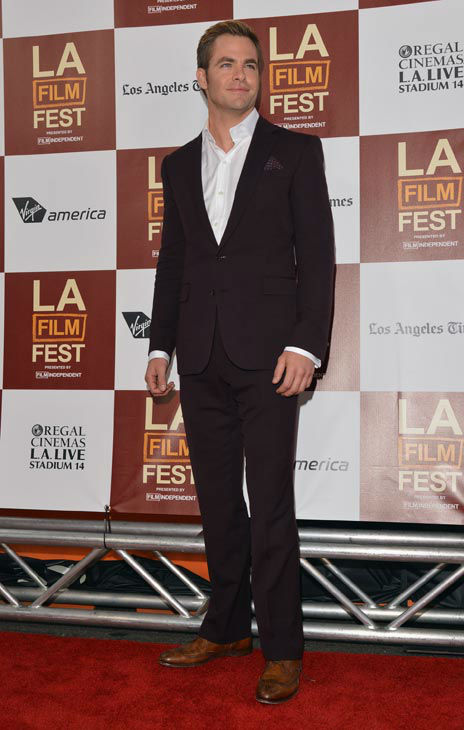 Actor Chris Pine attends the 2012 Los Angeles...