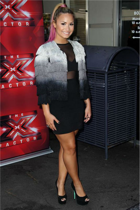 "<div class=""meta ""><span class=""caption-text "">Demi Lovato appears at 'The X Factor' auditions in San Francisco, California on June 18, 2012. (Norman Scott / startraksphoto.com)</span></div>"