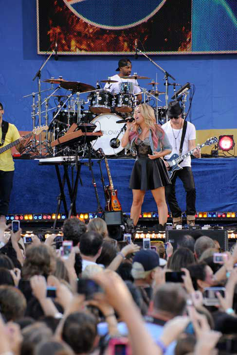 Demi Lovato performs live from Central Park in New York City on &#39;Good Morning America,&#39; on July 6, 2012, airing on the ABC Television Network. <span class=meta>(ABC Photo&#47; Donna Svennevik)</span>