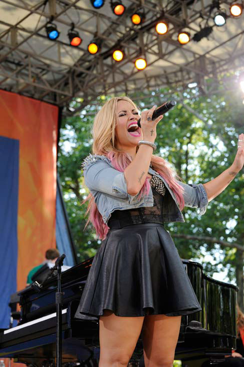 Demi Lovato performs live from Central Park in...