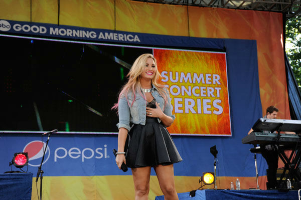Demi Lovato performs live from Central Park in New York City on 'Good Morning America,' on July 6, 2012, airing on the ABC Television Network.