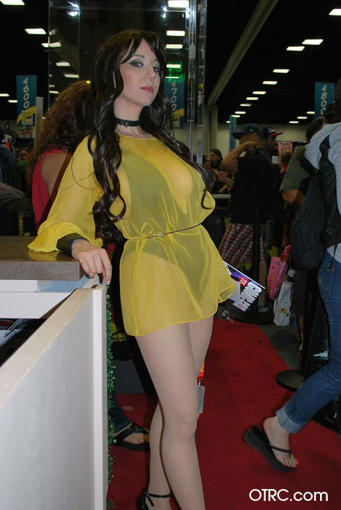 A fan dressed as Silk Spectre from Watchmen appears in a photo at San Diego Comic-Con on Wednesday, July 11, 2012.