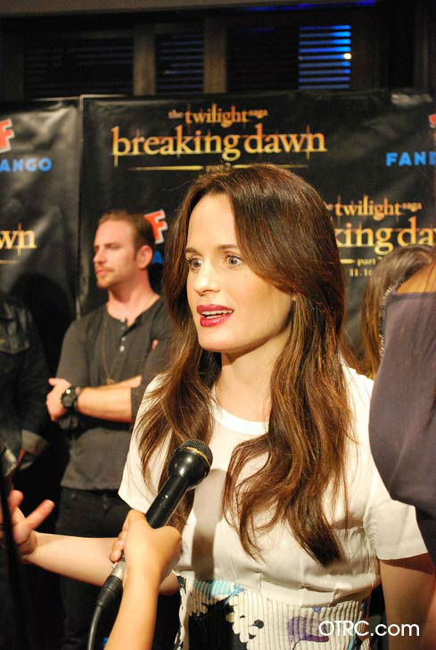'Twilight' actress Elizabeth Reaser appears in a photo at San Diego Comic-Con on Wednesday, July 11, 2012.