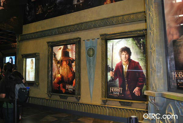 Posters from the upcoming film, &#39;The Hobbit: An Unexpected Journey&#39; appear in a photo at San Diego Comic-Con on Wednesday, July 11, 2012. <span class=meta>(OTRC Photo)</span>
