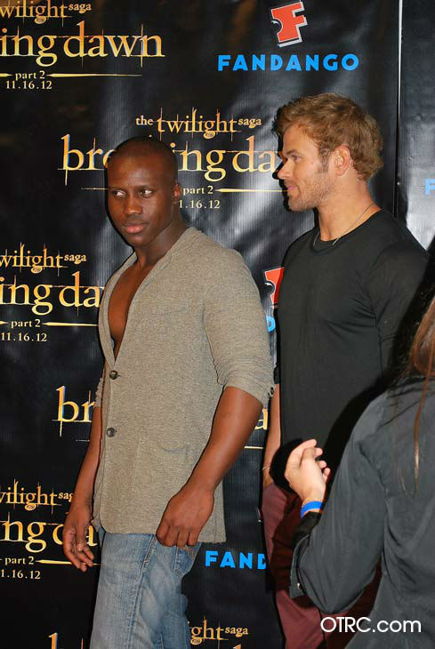 'Twilight' actors Kellan Lutz and Amadou Ly appear in a photo at San Diego Comic-Con on Wednesday, July 11, 2012.