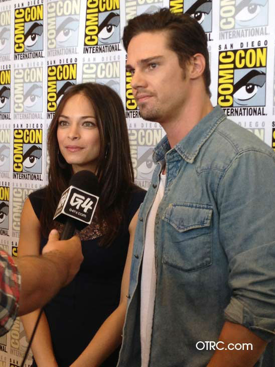 Kristin Kreuk and Jay Ryan from the new CW series 'Beauty and the Beast' appear in a photo at San Diego Comic-Con on Thursday, July 12, 2012.