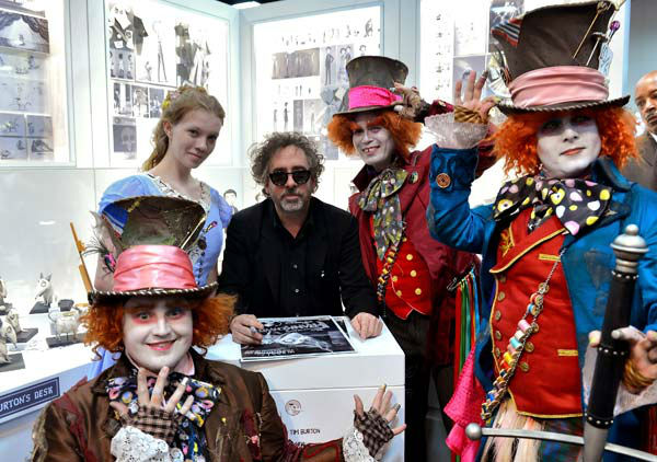 Director/producer Tim Burton poses with...