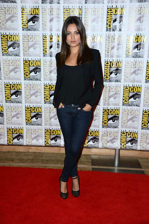 Mila Kunis of &#39;Oz: the Great and Powerful,&#39; appears in a photo at San Diego Comic-Con on Thursday, July 12, 2012. <span class=meta>(WireImage Photo&#47;Frazer Harrison)</span>