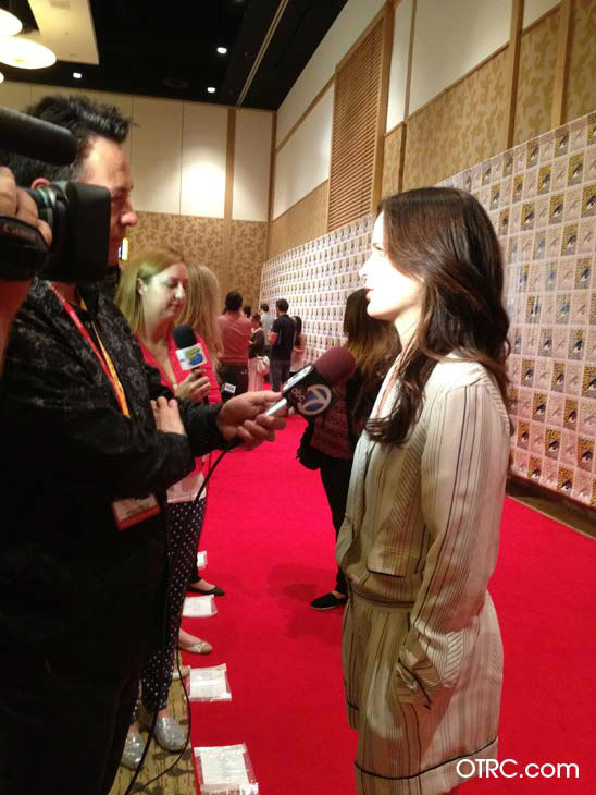 "<div class=""meta ""><span class=""caption-text "">'Twilight' actress Elizabeth Reaser appears in a photo at San Diego Comic-Con on Thursday, July 12, 2012. (OTRC Photo)</span></div>"