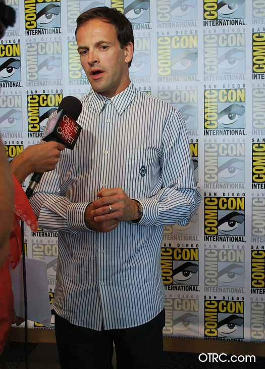 Johnny Lee Miller, who stars in the new CBS series 'Elementary,' appears in a photo at San Diego Comic-Con on Thursday, July 12, 2012.