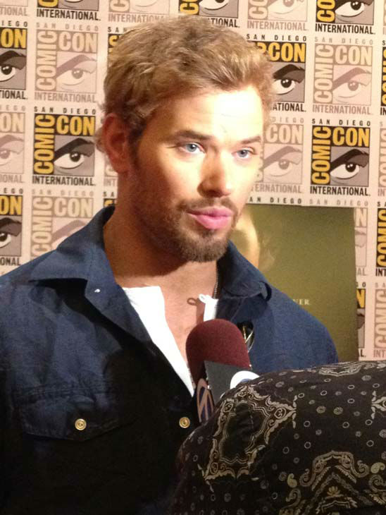&#39;Twilight&#39; actor Kellan Lutz appears in a photo at San Diego Comic-Con on Wednesday, July 11, 2012. <span class=meta>(OTRC Photo)</span>