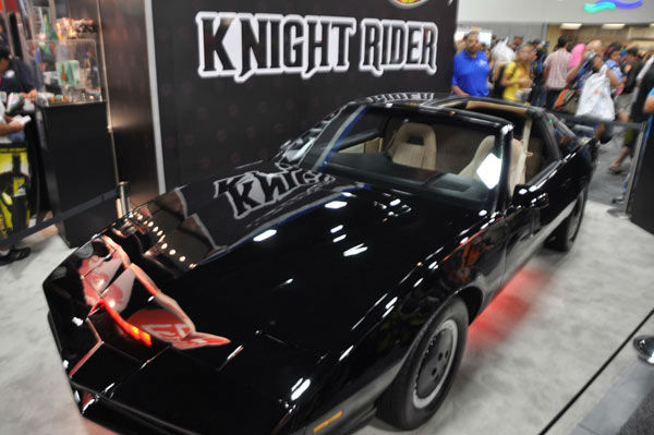 The &#39;Knight Rider&#39; car appears in a photo at San Diego Comic-Con on Thursday, July 12, 2012. <span class=meta>(OTRC Photo)</span>