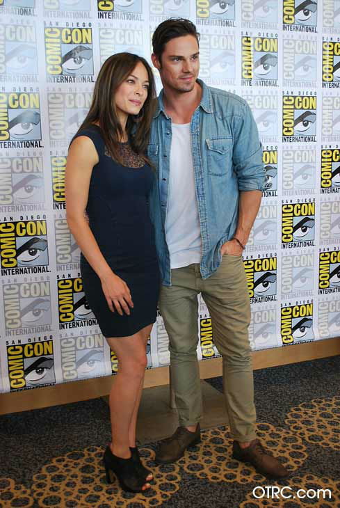 "<div class=""meta image-caption""><div class=""origin-logo origin-image ""><span></span></div><span class=""caption-text"">Kristin Kreuk and Jay Ryan from the new CW series 'Beauty and the Beast' appear in a photo at San Diego Comic-Con on Thursday, July 12, 2012. (OTRC Photo)</span></div>"