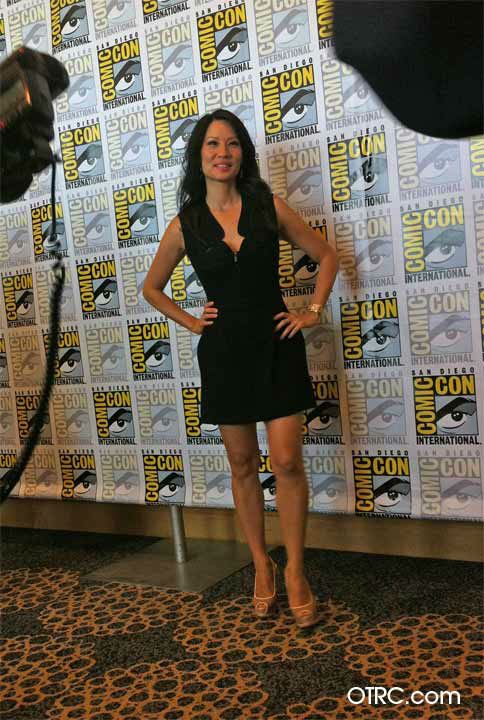Lucy Liu, who stars in the new CBS series 'Elementary,' appears in a photo at San Diego Comic-Con on Thursday, July 12, 2012.