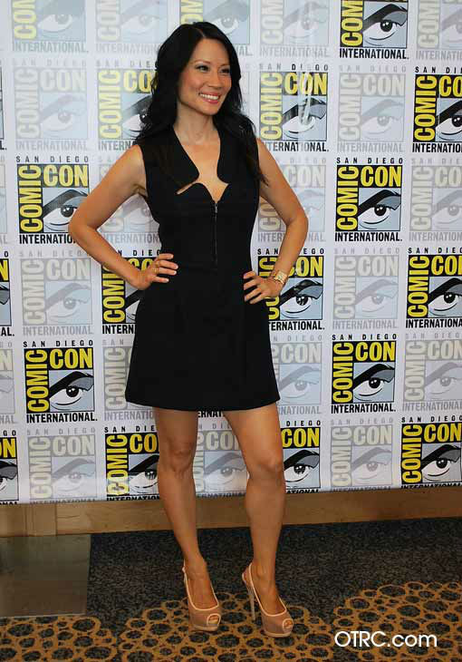 Lucy Liu, who stars in the new CBS series &#39;Elementary,&#39; appears in a photo at San Diego Comic-Con on Thursday, July 12, 2012. <span class=meta>(OTRC Photo)</span>