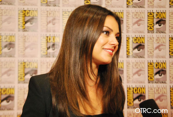 "<div class=""meta ""><span class=""caption-text "">Mila Kunis of 'Oz: the Great and Powerful,' appears in a photo at San Diego Comic-Con on Thursday, July 12, 2012. (OTRC Photo)</span></div>"