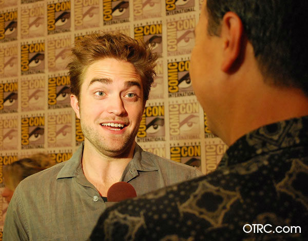 'Twilight' actor Robert Pattinson  appears in a photo at San Diego Comic-Con on Thursday, July 12, 2012.