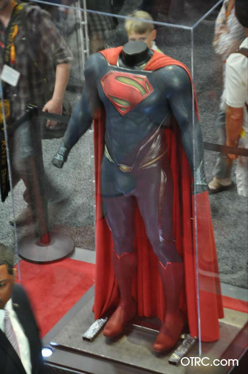 A Superman costume from 'Man of Steel' appears...
