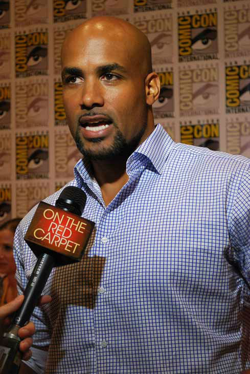 "<div class=""meta ""><span class=""caption-text "">Boris Kodjoe of 'Resident Evil: Retribution' appears in a photo at  San Diego Comic-Con on Friday, July 13, 2012. (OTRC Photo)</span></div>"