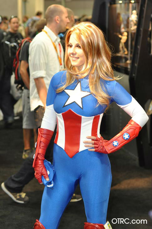 A fan dressed as Marvel's 'American Dream'...