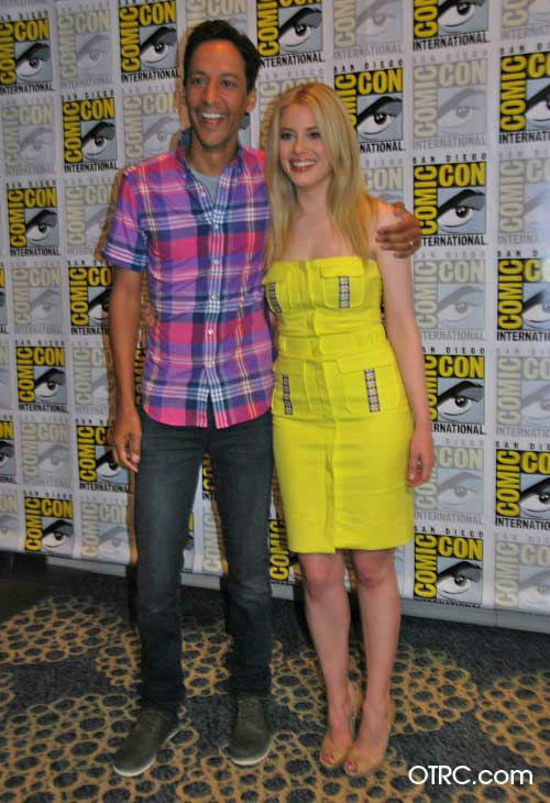 "<div class=""meta ""><span class=""caption-text "">Gillian Jacobs and Danny Pudi of 'Community' appear in a photo at San  Diego Comic-Con on Friday, July 13, 2012. (OTRC Photo)</span></div>"