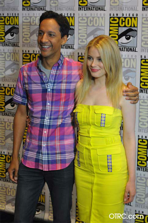 "<div class=""meta ""><span class=""caption-text "">Gillian Jacobs and Danny Pudi of 'Community' appear in a photo at San Diego Comic-Con on Friday, July 13, 2012. (OTRC)</span></div>"