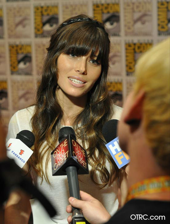 &#39;Total Recall&#39; star Jessica Biel appears in a photo at San Diego Comic-Con on Friday, July 13, 2012. <span class=meta>(OTRC Photo)</span>